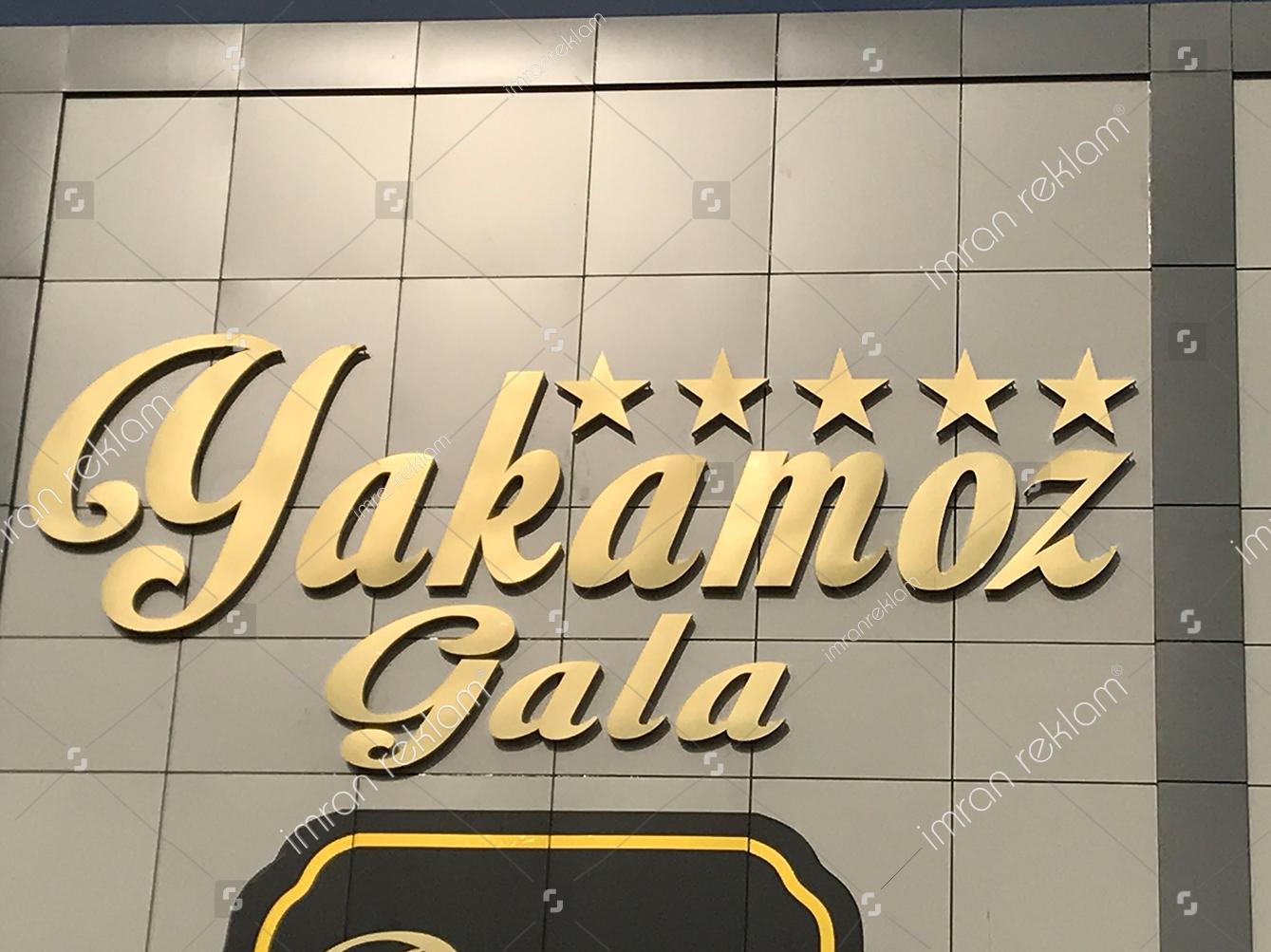 Düğün Salonu Gold Krom Harfli Tabela